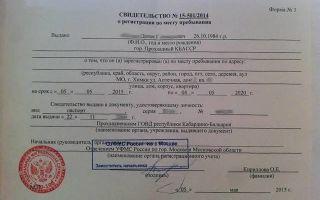 Заявление на временную регистрацию в 2020 году: образцы
