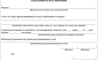 Временная регистрация ребёнка в 2020 году: документы, оформление, образец