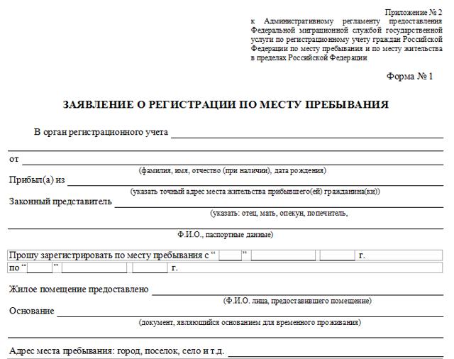 Заявление собственника на временную регистрацию в 2020 году: образец