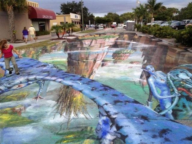 В Сарасоте ежегодно проходит фестиваль меловых рисунков