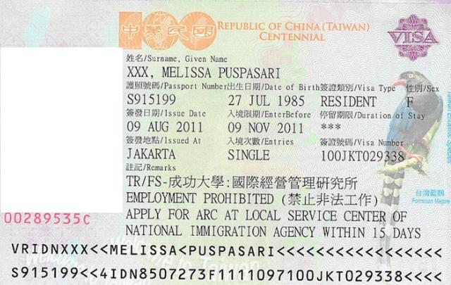 Виза в Тайвань для россиян в 2020 году: заполнение анкеты