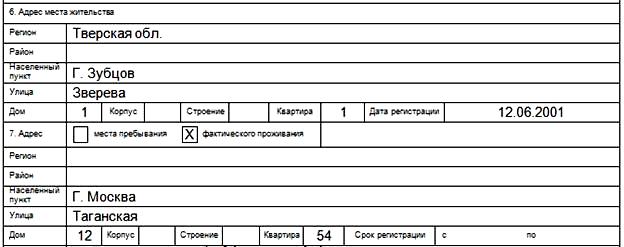 Образец заполнения анкеты на загранпаспорт старого образца 2020