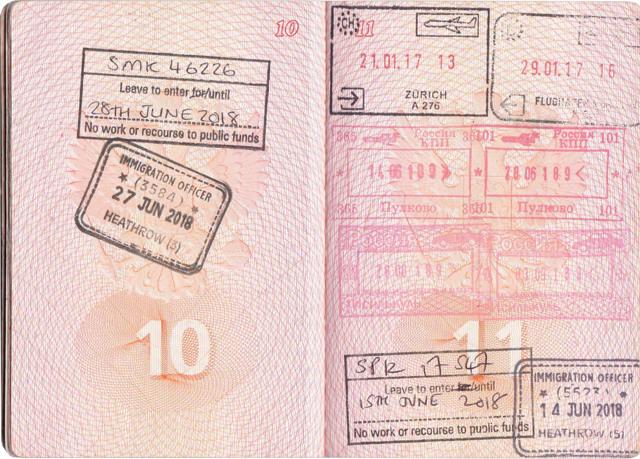 Транзитная виза в Великобританию для россиян в 2020 году: самостоятельное оформление