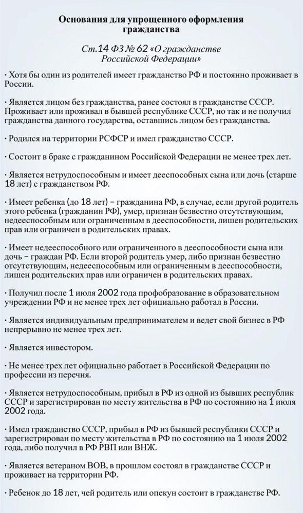 Гражданство РФ для белорусов в упрощенном порядке в 2020 году: документы